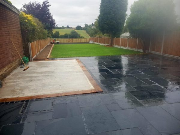 Back Garden Landscaping, Fencing and Patio Project – After