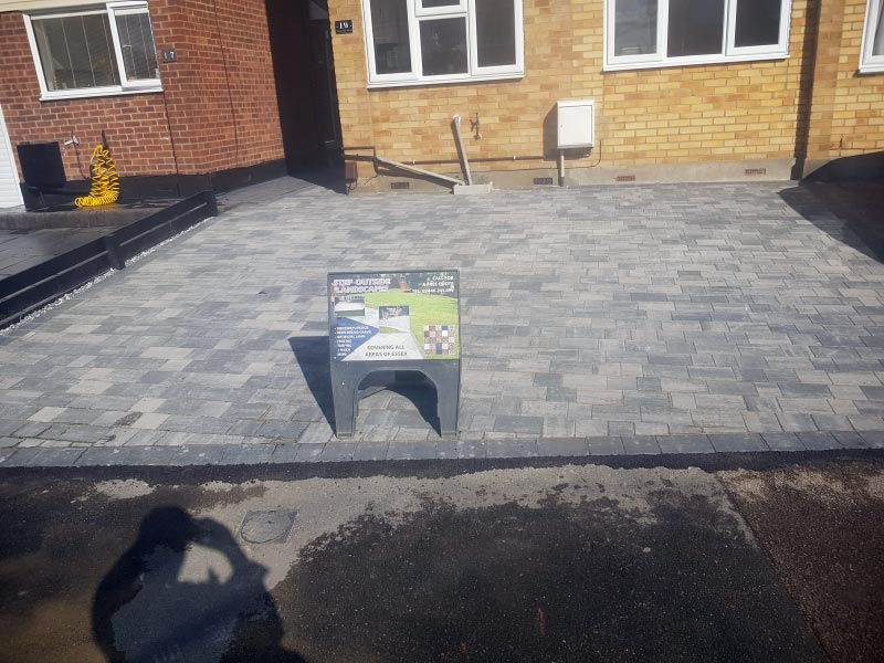 Blue Block Paving Driveway Project - After